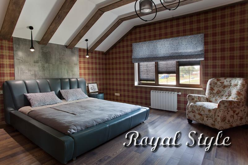 Спальня, Шторы для загородного дома, в горах Шотландии