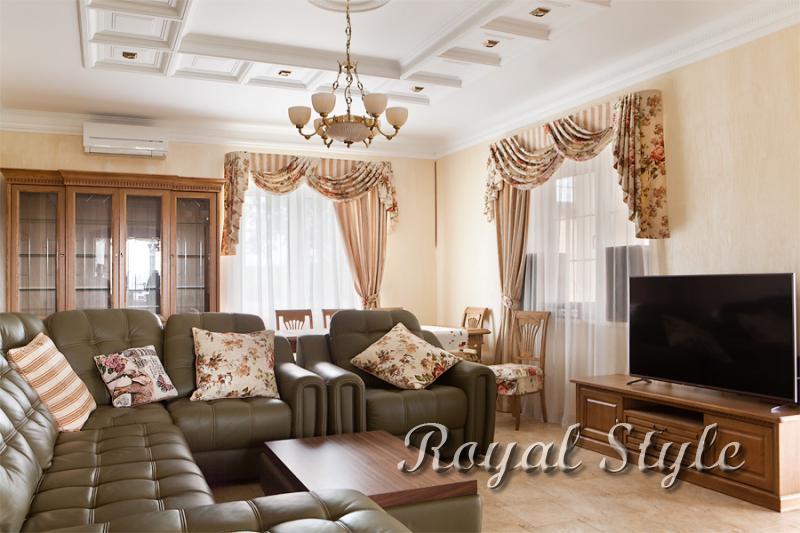 Загородный дом, Гостиная, Малиновка