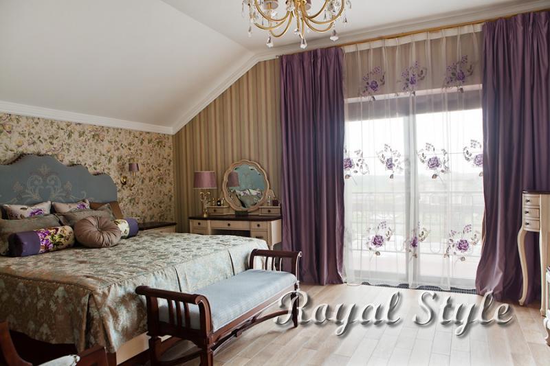 Спальня, Шторы для загородного дома, Шанель