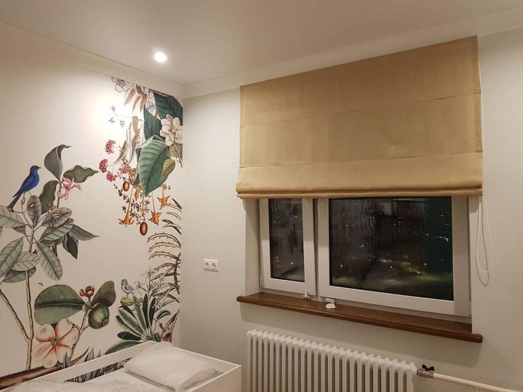 Скандинавский стиль в интерьере. Легкие, непринужденные шторы для квартиры на Мичуринском проспекте., дизайн и шторы на заказ