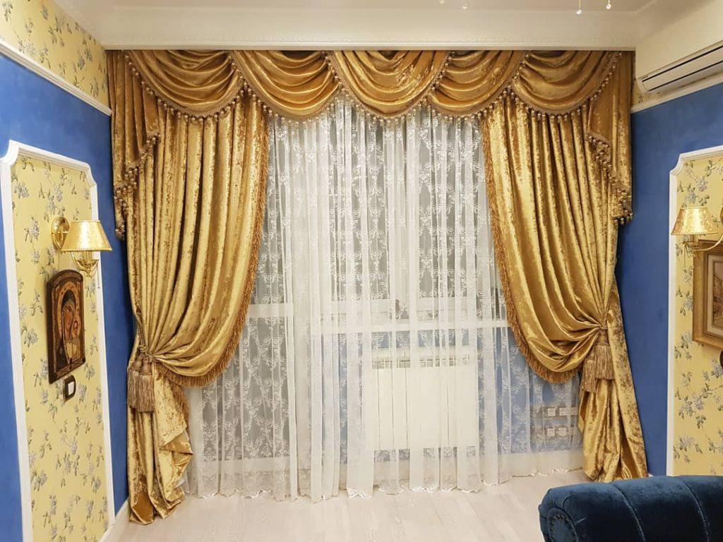 Бархатные шторы с ламбрекеном., дизайн и шторы на заказ