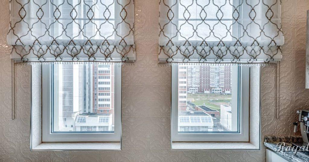 Римские шторы на кухню, дизайн и шторы на заказ