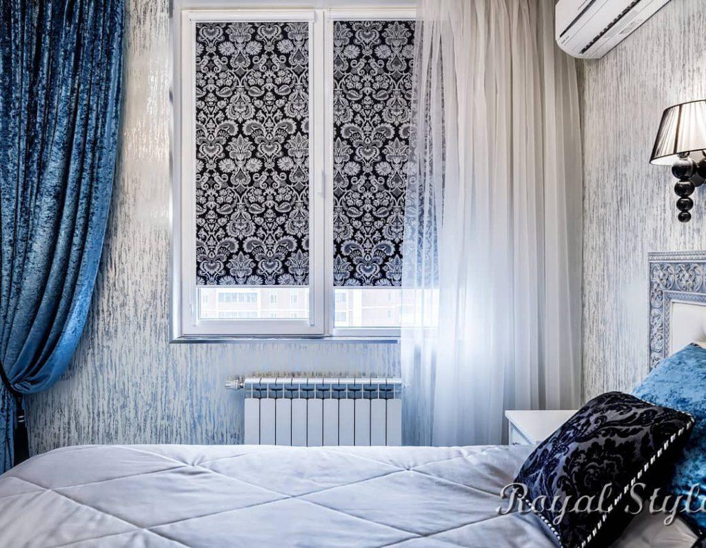 Квартира на Мосфильмовской, дизайн и шторы на заказ