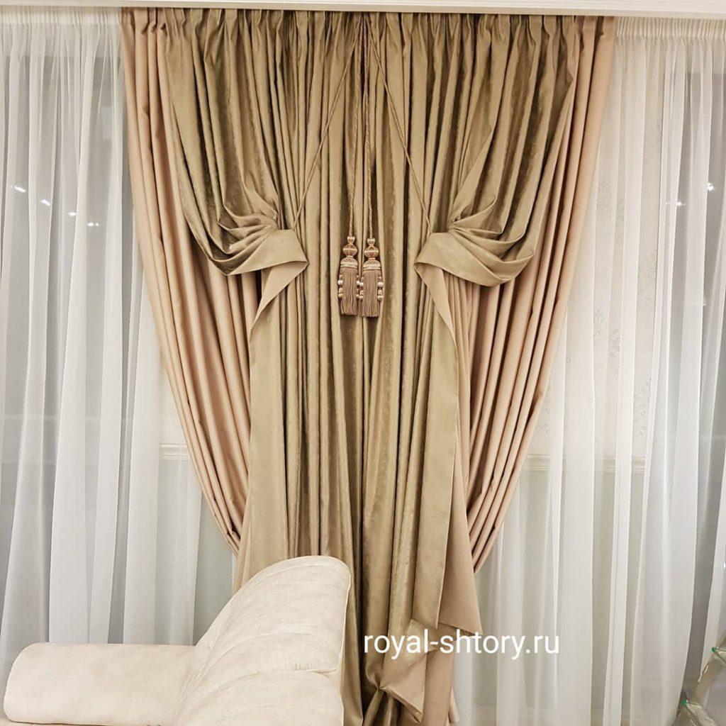 Шторы для гостиной в Сколково., дизайн и шторы на заказ
