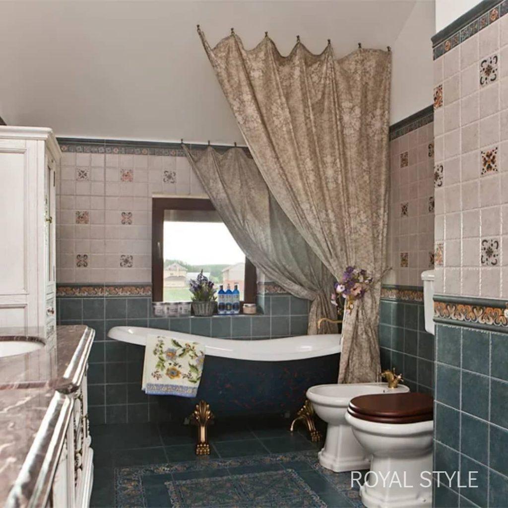 Ванная комната, дизайн и шторы на заказ