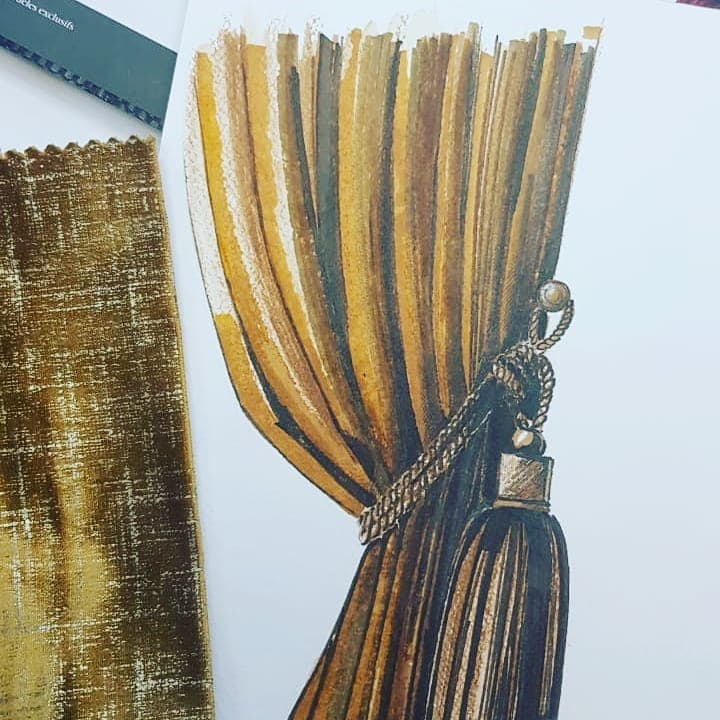 Выбора ткани для штор, дизайн и шторы на заказ