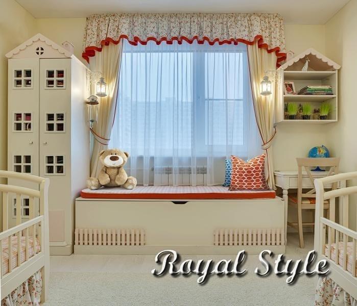 Детская для двух девочек, дизайн и шторы на заказ