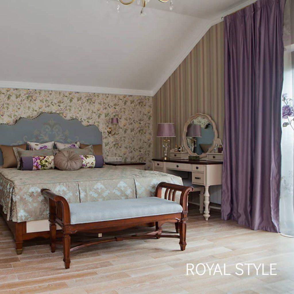 Спальня в стиле Прованс, дизайн и шторы на заказ