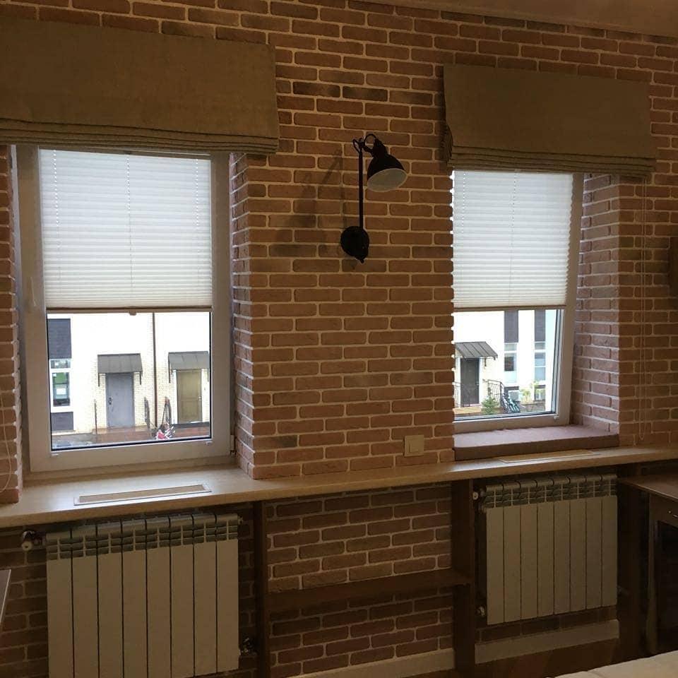 Плиссе для комнаты юноши в загородном доме., дизайн и шторы на заказ