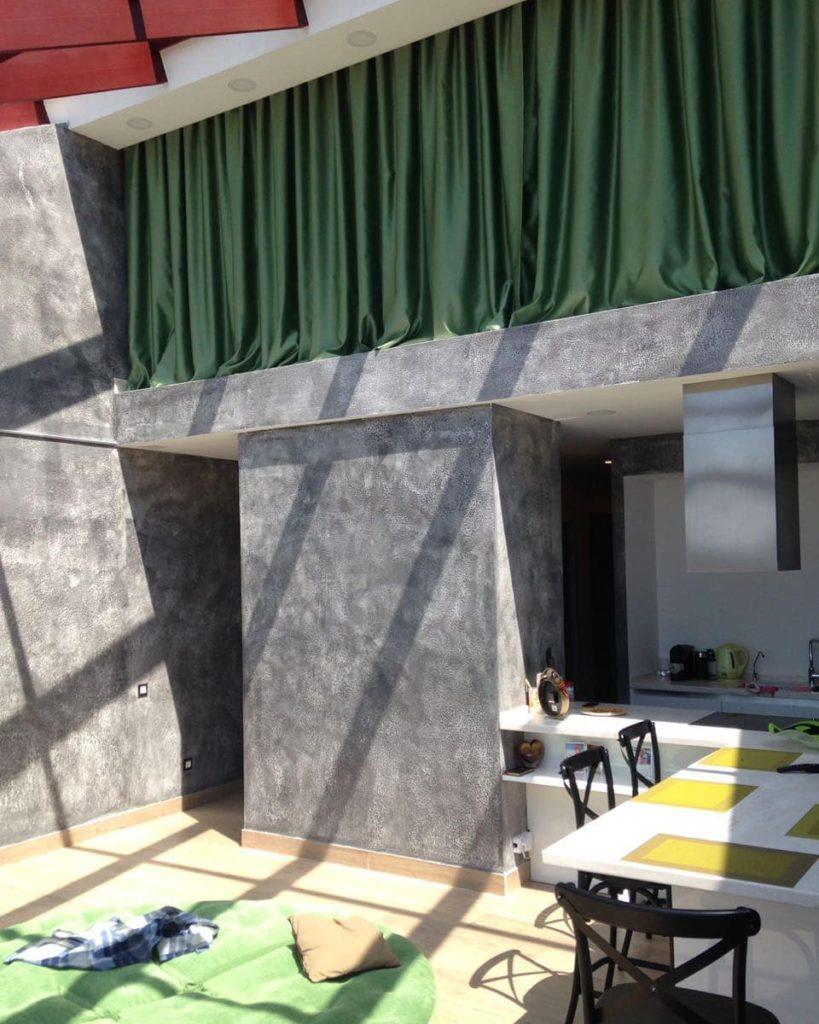 Зонирование помещения шторами блекаут, дизайн и шторы на заказ
