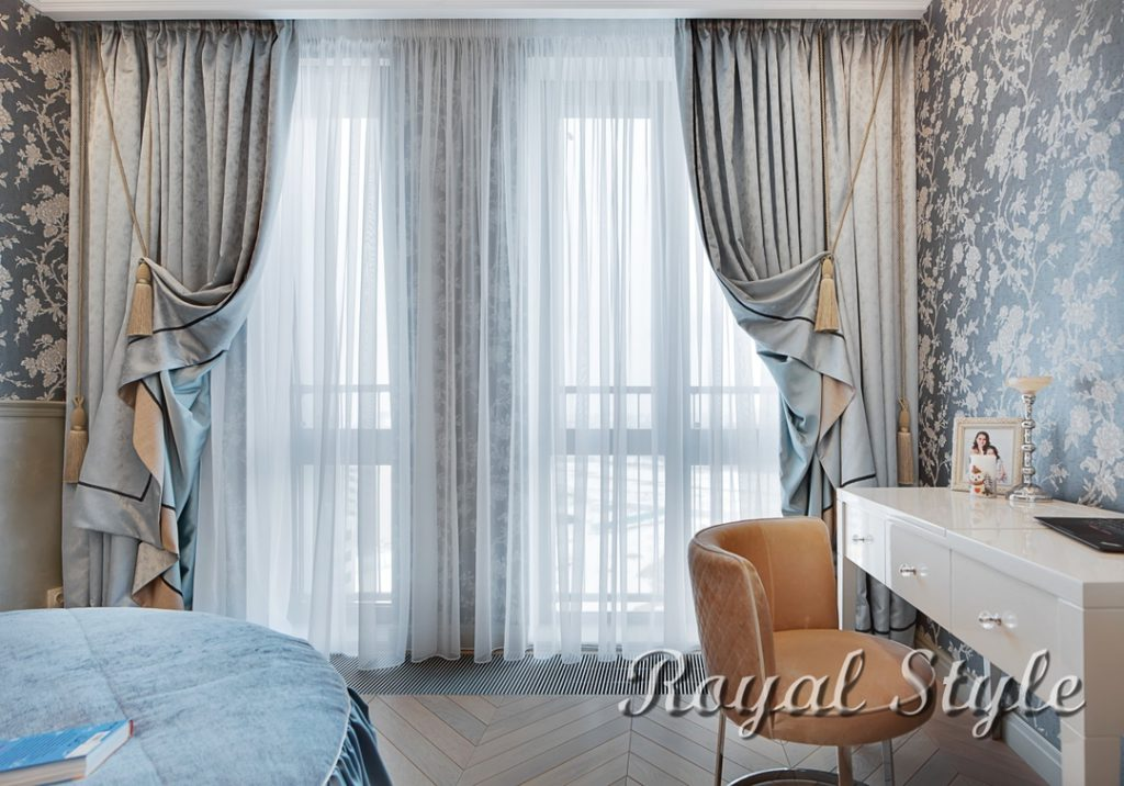 Комната для девочки-подростка в Сколково, дизайн и шторы на заказ
