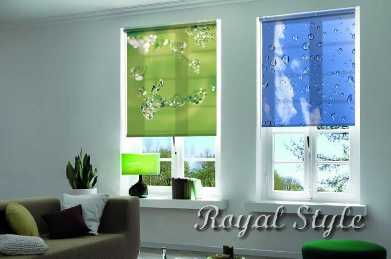 Рулонные шторы на окна, дизайн и шторы на заказ