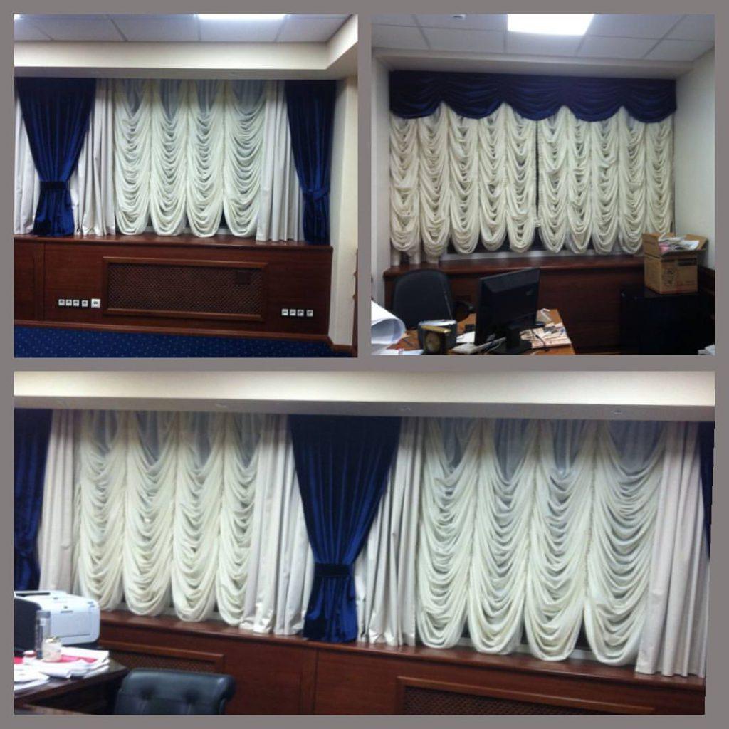 Шторы для кабинета руководителя, дизайн и шторы на заказ